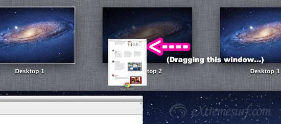 New Desktop space by dragging window